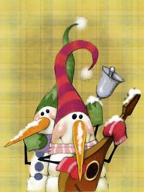 Snowman Mandolin 2 by Margaret Wilson