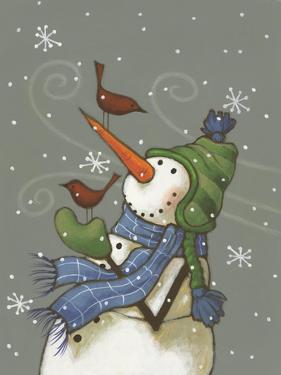 Snowman with Birds by Margaret Wilson