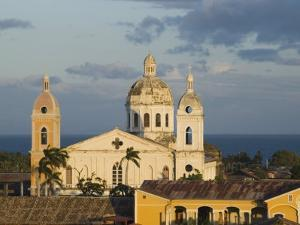 Cathedral and Lake Cocibolca from Belltower of Iglesia la Merced, Granada, Nicaragua by Margie Politzer