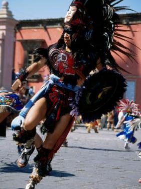 Costumed Dancer, Aztec Festival, Cristo de la Conquista, San Miguel de Allende, Guanajuato, Mexico by Margie Politzer