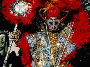 Person in Costume, Mummers Parade, Philadelphia, Pennsylvania by Margie Politzer