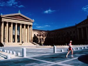 Runner Outside Philadelphia Museum of Art, Philadelphia, Pennsylvania by Margie Politzer