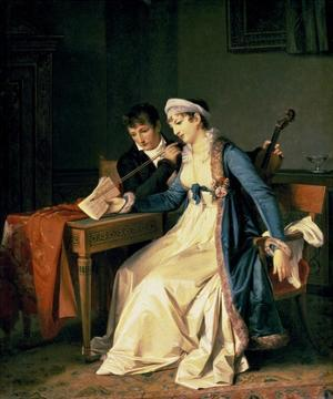 The Music Lesson by Marguerite Gerard