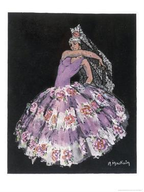 "Antonia Argentina (Antonia Merce) Flamenco Dancer in ""Cordoba"" by Albeniz by Marguerite Mackain"