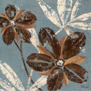 Flowers on Denim III by Maria Donovan