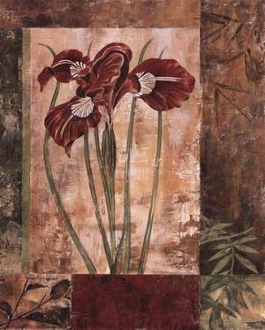 Jeweled Iris I by Maria Donovan