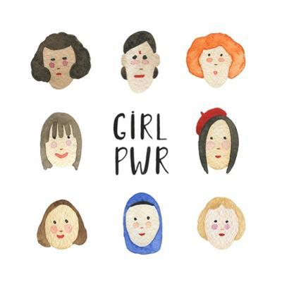 Girl Pwr - Set of Faces by Maria Mirnaya
