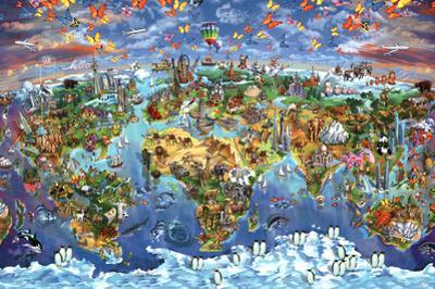 Maria Rabinky World Wonders map by Maria Rabinky