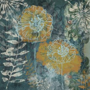 Navy Poppies I by Maria Woods