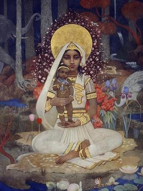 Devaki, Mother of Krishna by Marianne Stokes