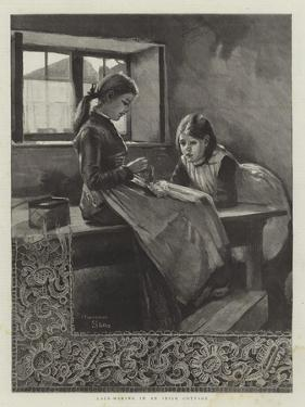 Lace-Making in an Irish Cottage by Marianne Stokes