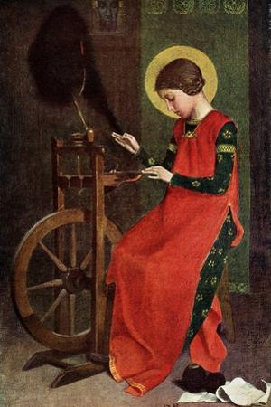 St Elizabeth of Hungary Spinning Wool for the Poor, 1901