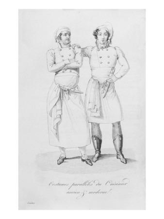 Costumes of Cooks from Different Eras, from 'Le Maitre D'Hotel Francais' by Marie Antoine Careme