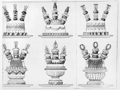 "Designs for Food Decoration from ""Le Cuisinier Parisien"", Published 1842"