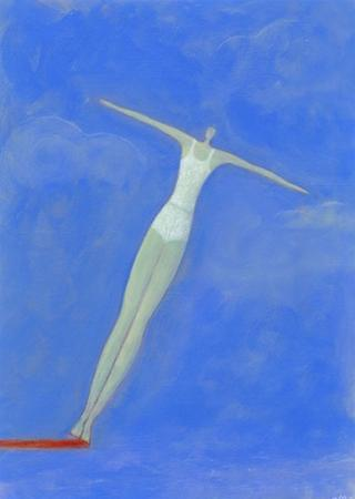 Diver on Springboard by Marie Bertrand