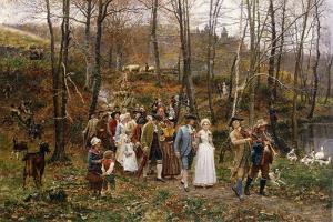 A Wedding Procession, 1879 by Marie Francois Firmin-Girard