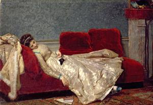 After the Ball, 1869 by Marie Francois Firmin-Girard