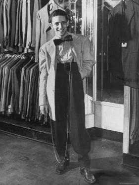 Jerome Mendelson Modeling the New Fashion, a Zoot Suit by Marie Hansen