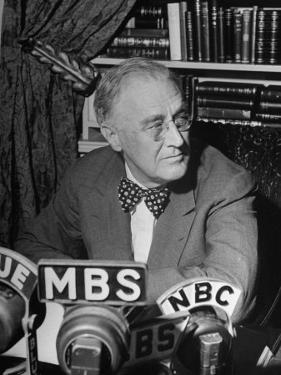 President Franklin D. Roosevelt Speaking on Pre Invasion Fireside Chat Radio Program by Marie Hansen