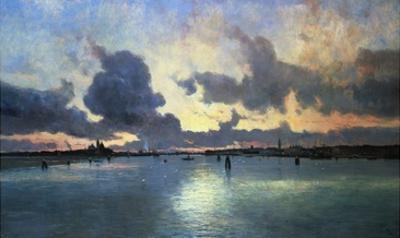 Sunset on the Laguna, Venice, Italy by Marie Joseph Iwill