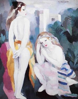 Two Young Girls in a Landscape by Marie Laurencin