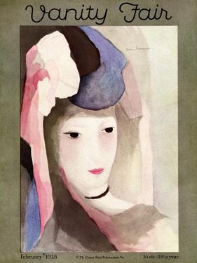 Vanity Fair Cover - February 1928 by Marie Laurencin