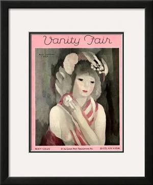 Vanity Fair Cover - May 1929 by Marie Laurencin