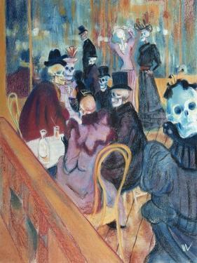 Au Moulin Skelly by Marie Marfia Fine Art