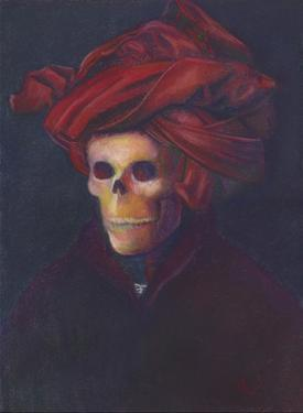Skelly In The Red Turban by Marie Marfia Fine Art