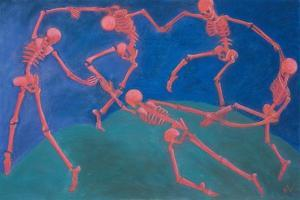 The (Skelly) Dance by Marie Marfia Fine Art