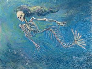 Skelly Mermaid by Marie Marfia