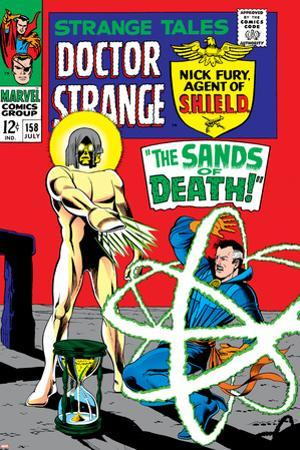 Strange Tales No.158 Cover: Dr. Strange and Living Tribunal by Marie Severin