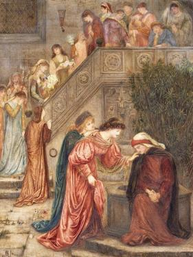 Certain Ladies of Her Companionship Gathered Themselves with Beatrice by Marie Spartali Stillman