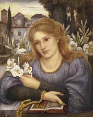 Cloister Lilies, 1891 by Marie Spartali Stillman