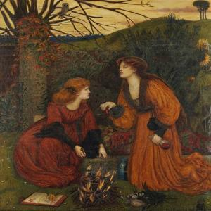 Pharmakeutria (Brewing the Love Philtre) by Marie Spartali Stillman