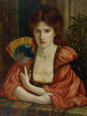 Self Portrait (W/C on Paper) (See also 183575) by Marie Spartali Stillman