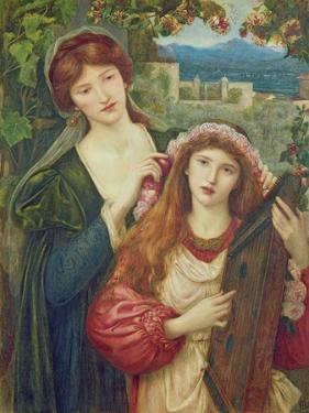 The Childhood of Saint Cecily by Marie Spartali Stillman