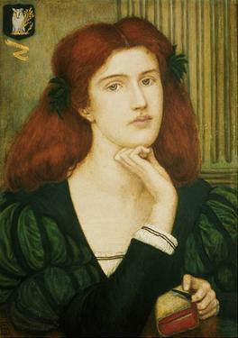 The Lady Prays-Desire (W/C and Gold Paint on Paper) by Marie Spartali Stillman