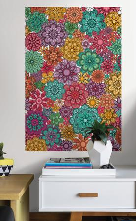 Marigold Floral Coloring Wall Decal