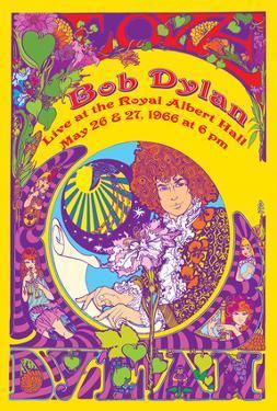 Bob Dylan at Royal Albert Hall 1966 by Marijke