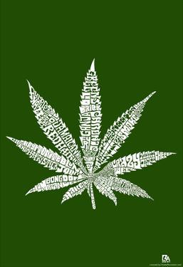 Marijuana Names Text Poster