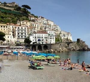 Amalfi Beach by Marilyn Dunlap