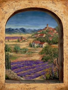 Lavender Fields and Village of Provence by Marilyn Dunlap