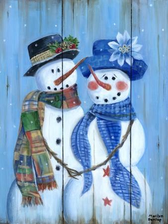 Snowman Couple by Marilyn Dunlap