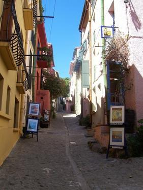 Street in Collioure France by Marilyn Dunlap
