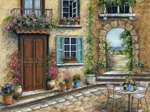 Tuscan Courtyard by Marilyn Dunlap