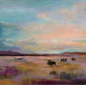 Buffalo Under Big Sky by Marilyn Hageman