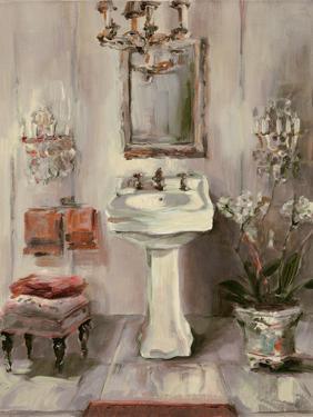 French Bath III Gray and Blush by Marilyn Hageman