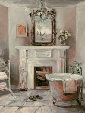 French Bath IV Gray and Blush by Marilyn Hageman