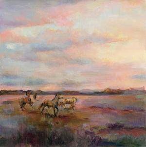 Mustangs Under Big Sky by Marilyn Hageman